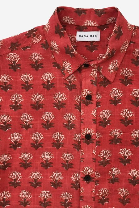 Raga Man Point Collar Shirt - Red Rose