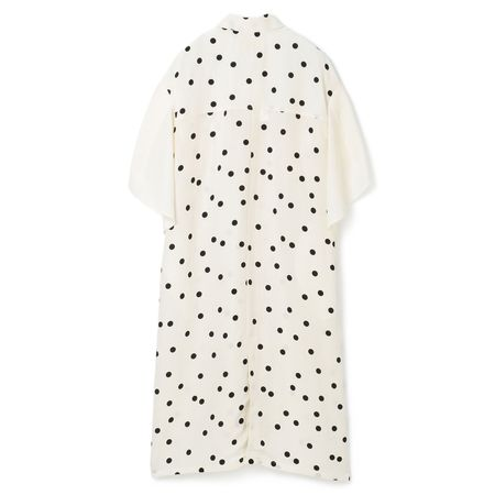 AKIRA NAKA Devon Flip Drawstring-Sleeve Dress - Off White