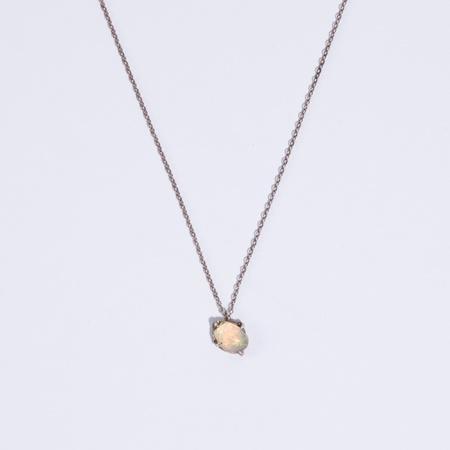 Unearthen Jewelry Unearthen Opal Necklace - Silver