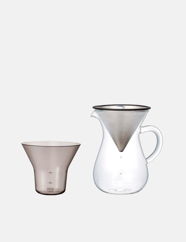 Kinto Japan Coffee Carafe Set 600ml - Stainless Steel