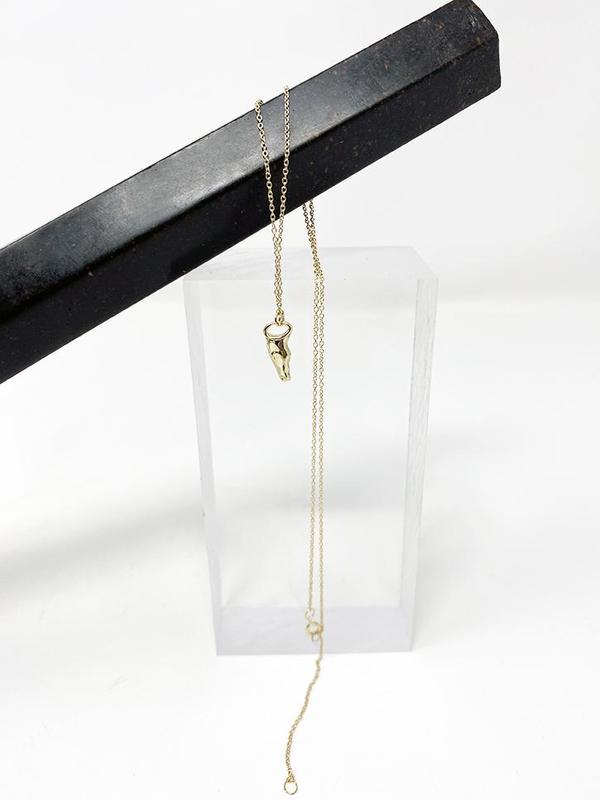 MM Druck Poni Necklace - 14K Gold