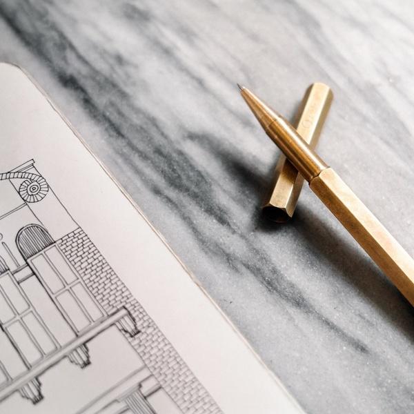 Neo Utility Brass Rollerball Pen