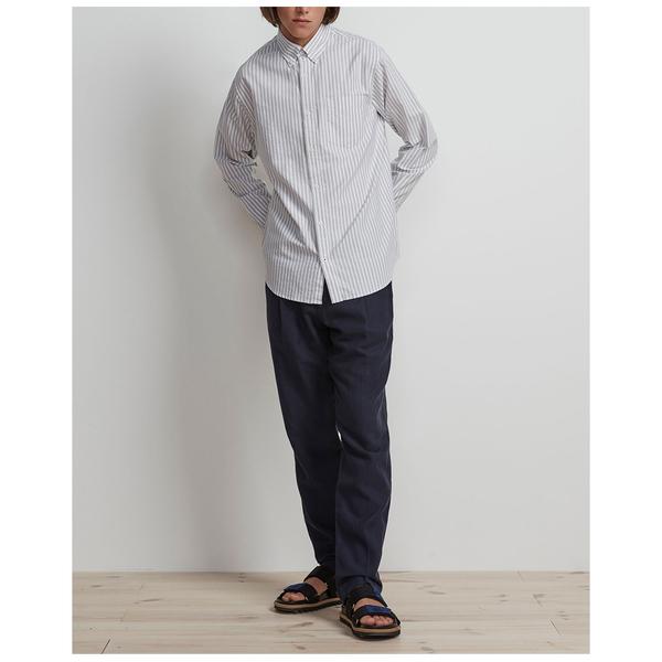 NN07 levon shirt 5142 - Green Stripe