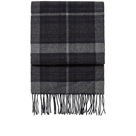 NN07 scarf two 9134 - Navy Check