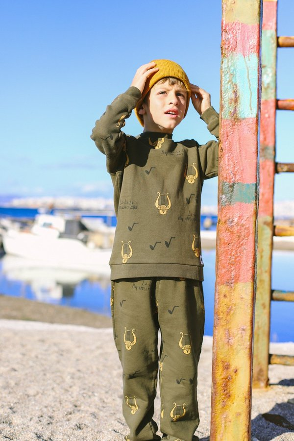 Kids ARTEMIS & APOLLON ALLOVER LYRE SWEATPANTS