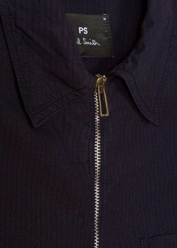 Paul Smith Zip Front Overshirt - Navy