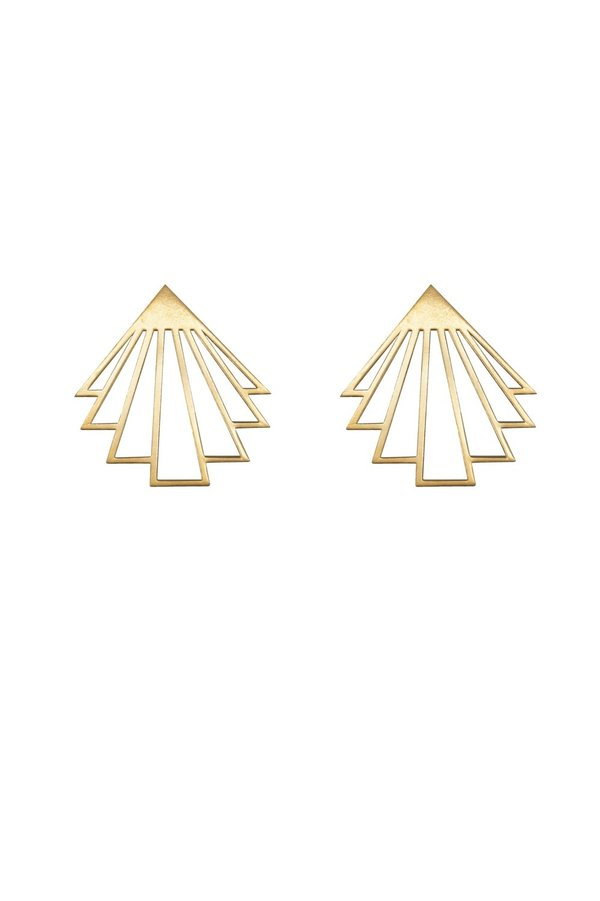 ARTPECKERS CIRCE EARRINGS - Gold Plate