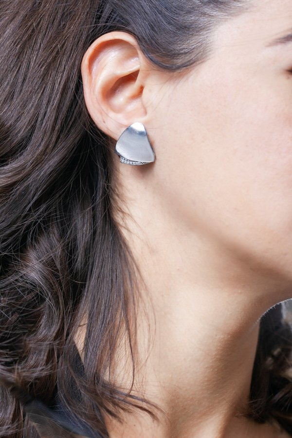 SMARO EARRING VL WITH STONES - SILVER