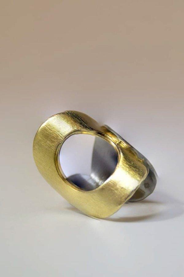 SMARAGDA'S ART FARAON RING - Silver 925 goldplated