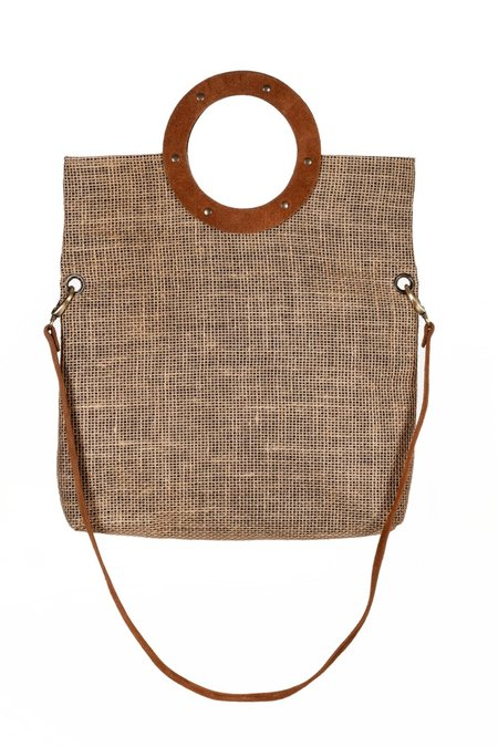 SHEEP & WOLVES HANDCRAFTED SUEDE & CANVAS SHOPPING BAG