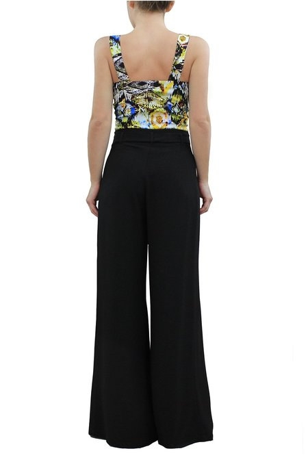 MARILIA CHRISTINA HIGH-WAISTED WIDE LEG TROUSERS WITH BELT