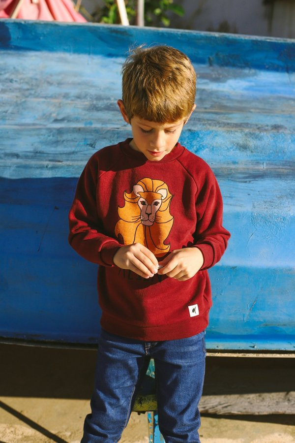 Kids ARTEMIS & APOLLON LION SWEATSHIRT - BORDEAUX