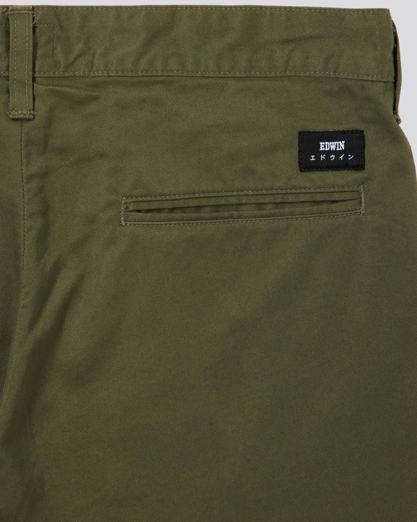 Edwin 55 Chino Compact Twill - Military Green