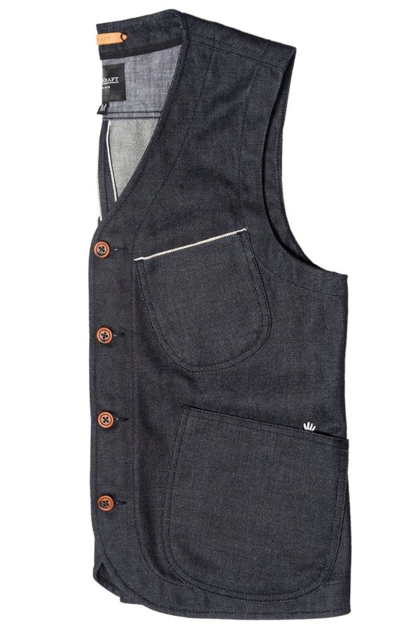 FIT & CRAFT MNEME VEST - Denim
