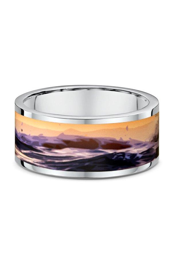 UNSIEX ICEBOW DESIGNS OCEAN WIDE RING
