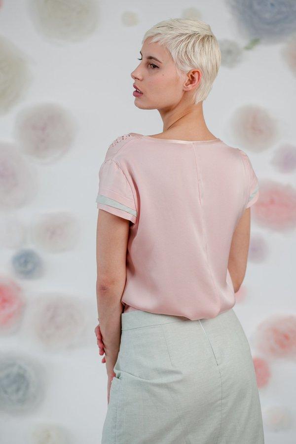 1014Lex. PINK LASER CUT TOP - Pink