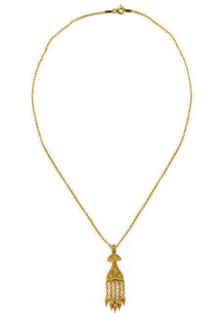 R by RANIA XEFTERI THE MYSTERY OF TROY HELEN NECKLACE - 18K Gold Plated