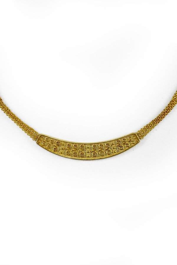 R by RANIA XEFTERI THE MYSTERY OF TROY NECKLACE - 18K Gold Plated