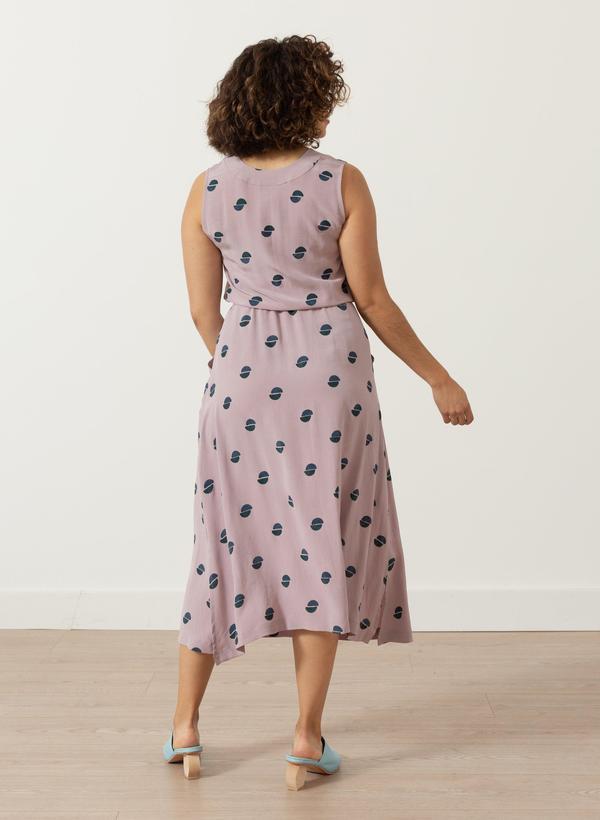 Seek Collective Kim Dress - Lavender halves print