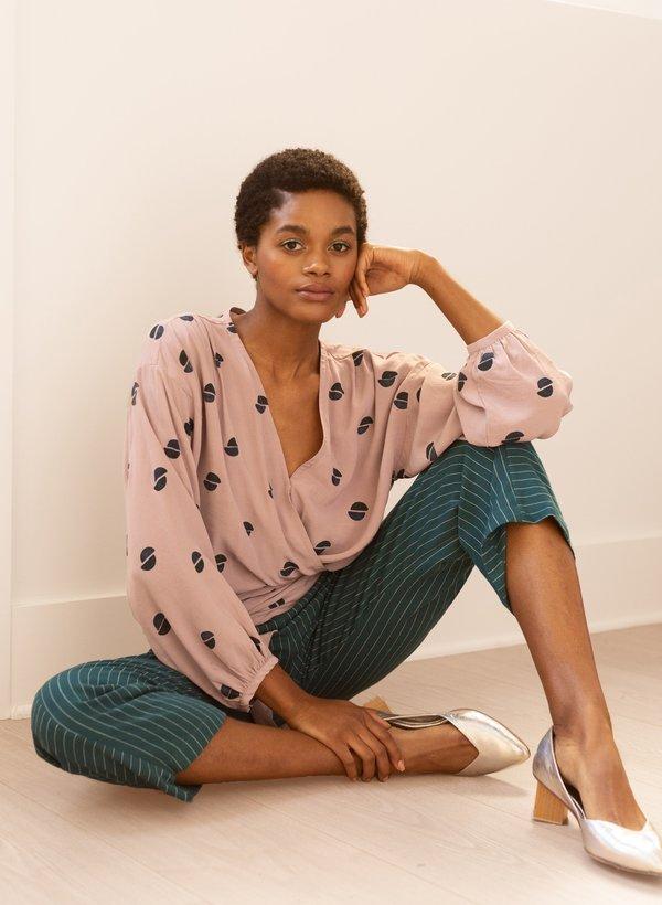 Seek Collective Paige Top - Lavender halves print