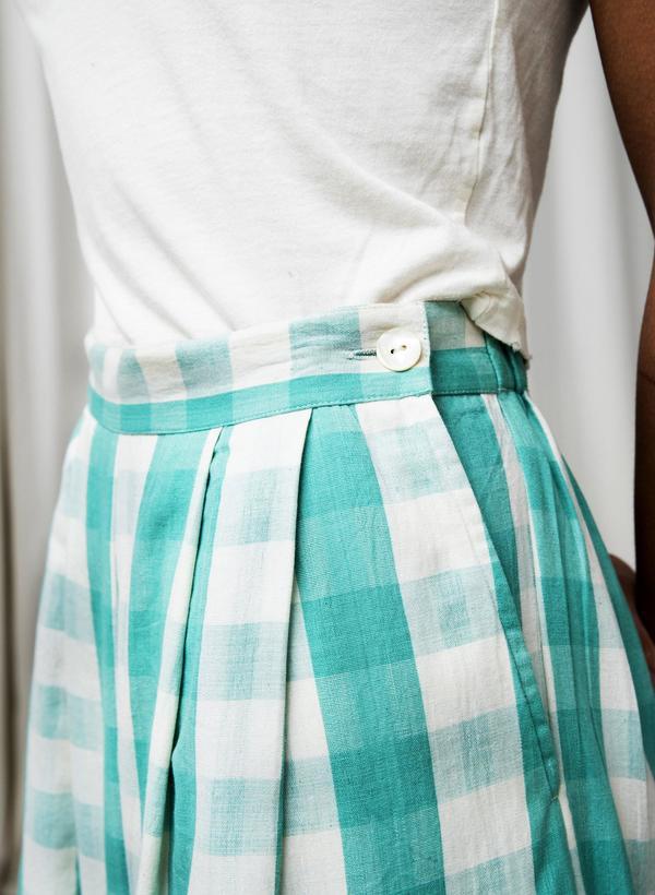 Seek Collective Savista Pants 2.0 - mint gingham