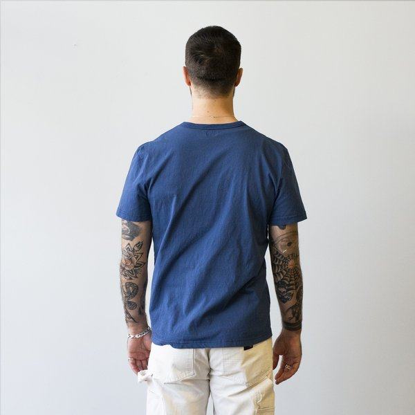 Homespun Knitwear Dad's Pocket Tee Tennessee Jersey - Indigo Fade