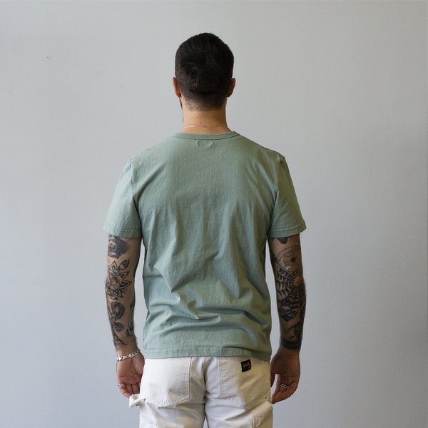 Homespun Knitwear Dad's Pocket Tee Tennessee Jersey - Pine Fade