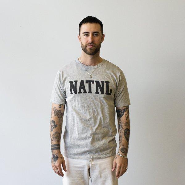 "National Athletic Goods Athletic Tee ""NATL"" Mock Twist Jersey - Ash Grey"