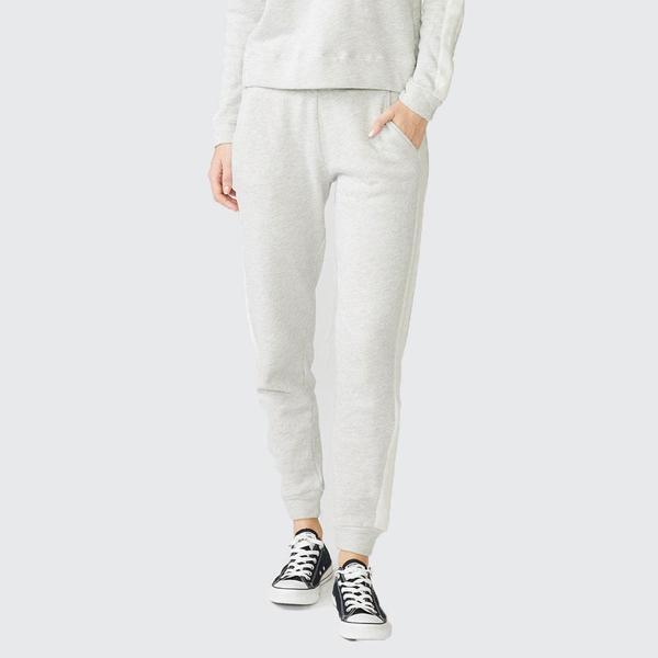 Monrow Sweats With Reversed Side Stripe - OAT