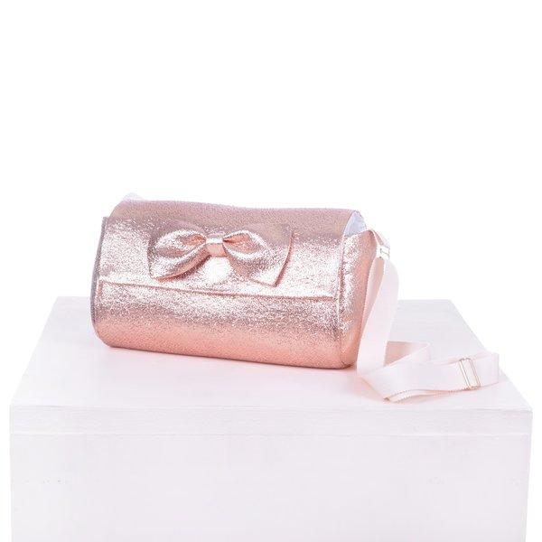 kids hucklebones bow bag - rose gold