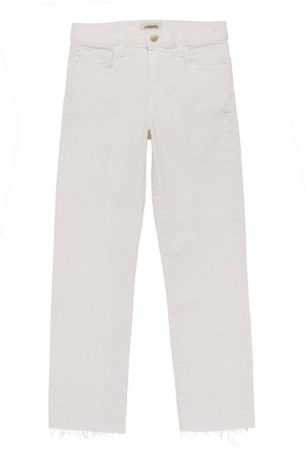 L'agence Sada Slim Crop - Vintage White