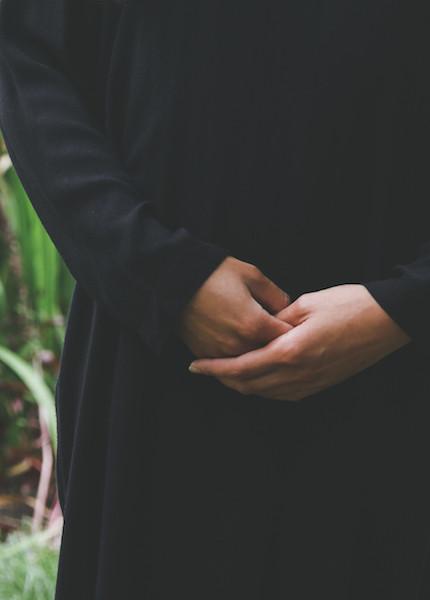 Black Crane - Slim Dress in Black