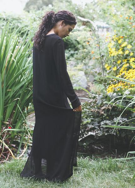 Lacausa - Long Sleeve Dress in Tar