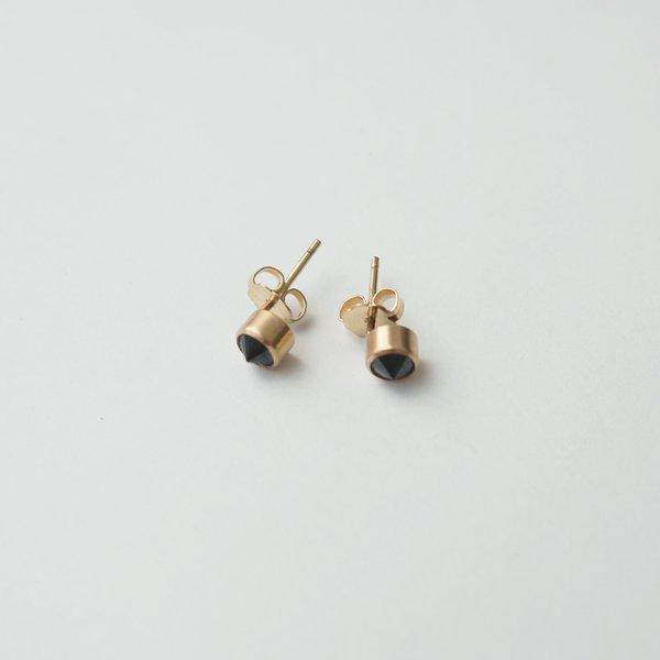 Favor Black Spinel Spike Posts - 14k Goldfill