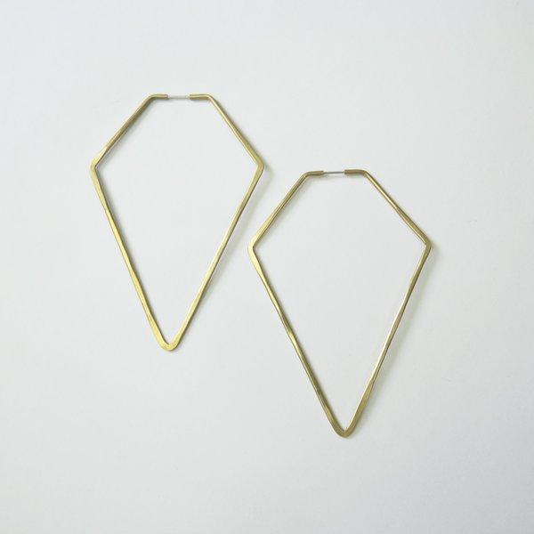 Essie Day High Diamond Hoop - Brass