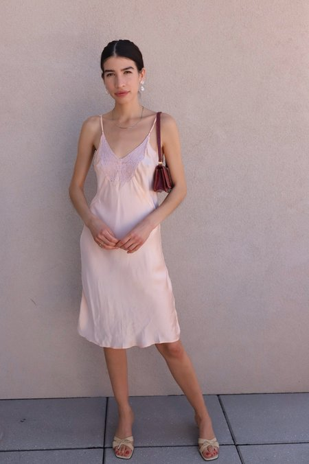 Vintage 1940s Rayon Slip Dress - Peach