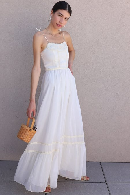 Dear Society Vintage 70s Maxi Dress - Cream