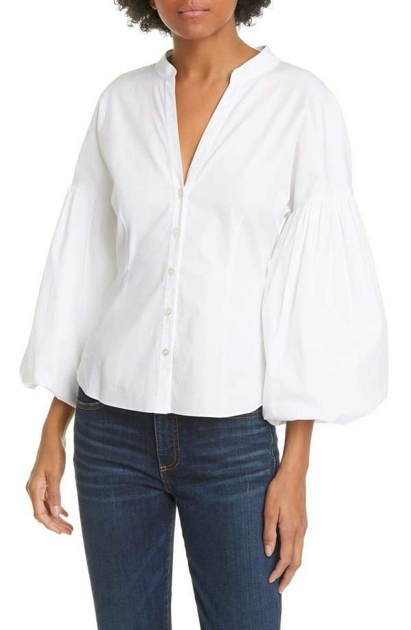 Veronica Beard Aileen Blouse - white