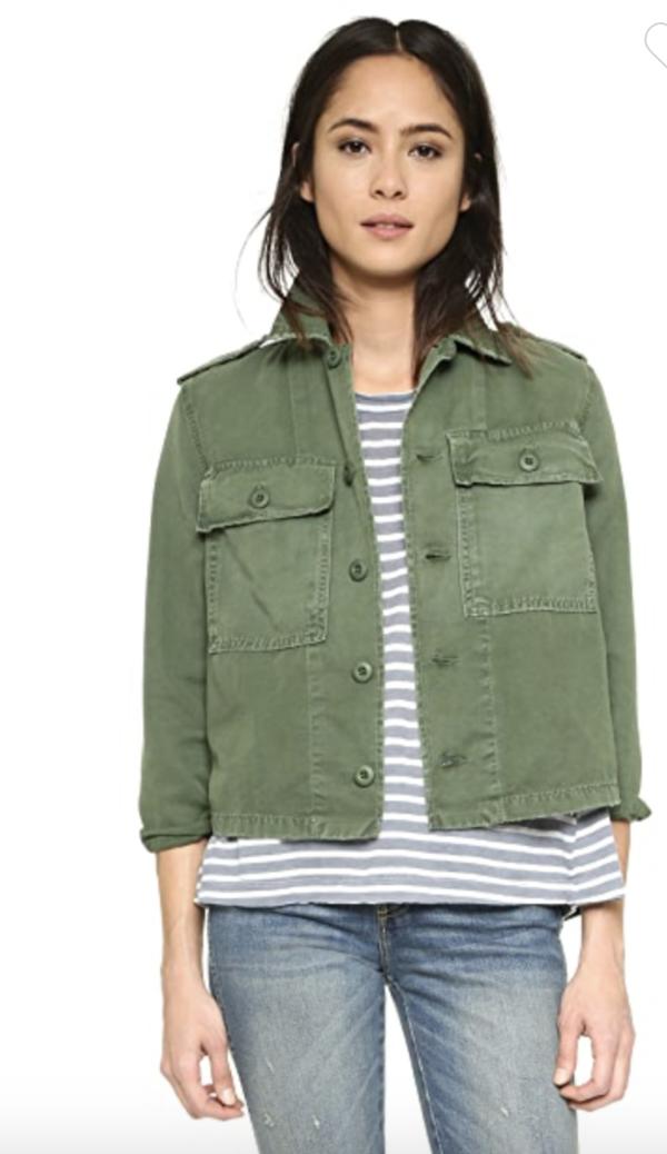amo denim Shirt Jacket - Army