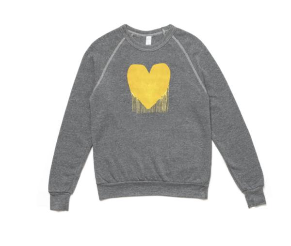 Kerri Rosenthal Drenched In Love Sweatshirt - grey