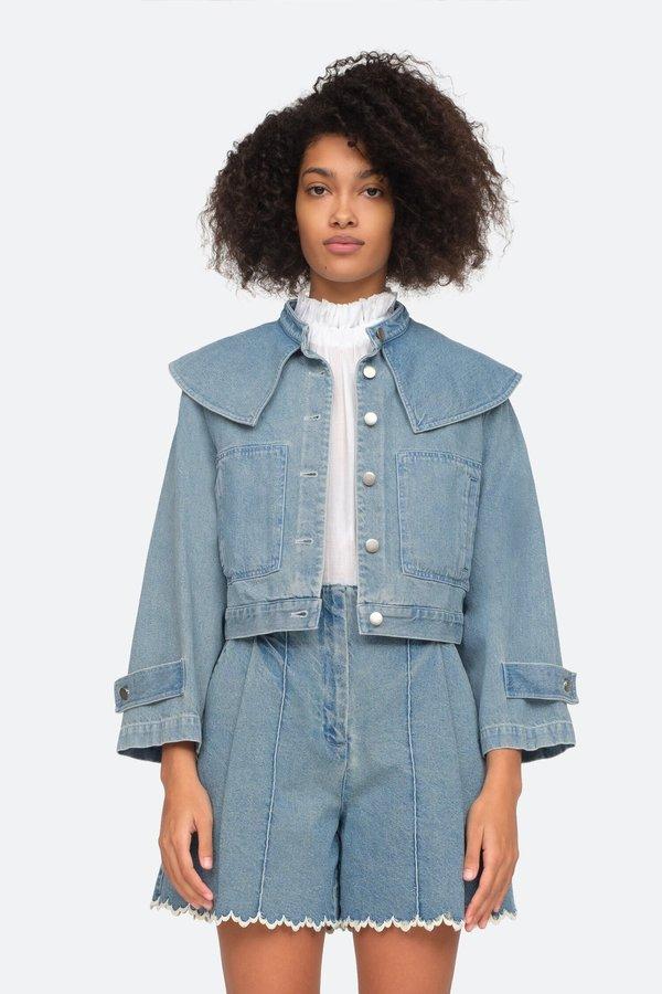 Sea NY Mara Collar Jacket - Indigo