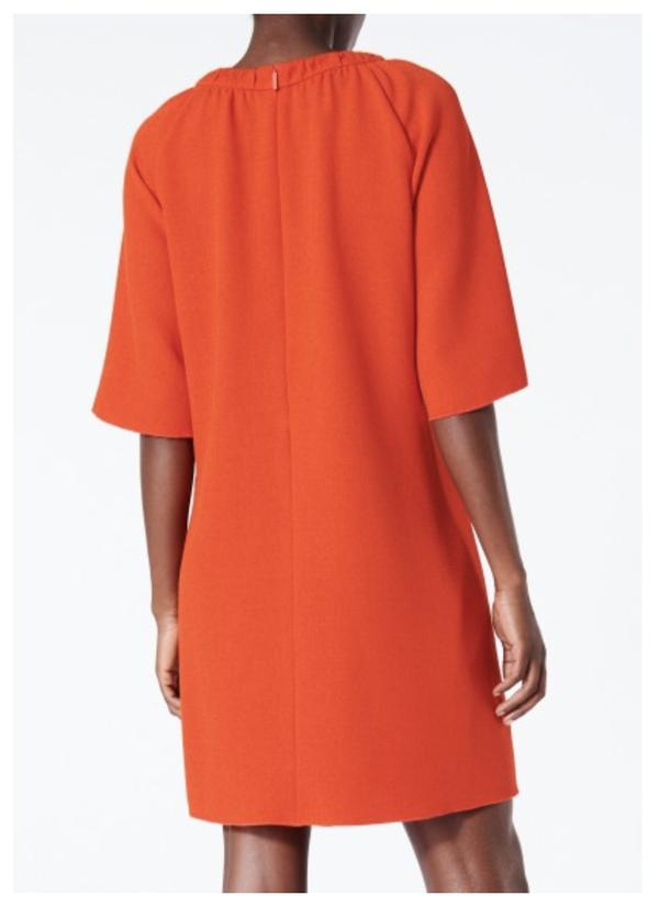 Tibi Mica Shift Dress - red
