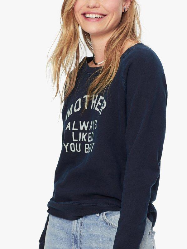 Mother Denim Mother's Favorite Sweatshirt - navy/white