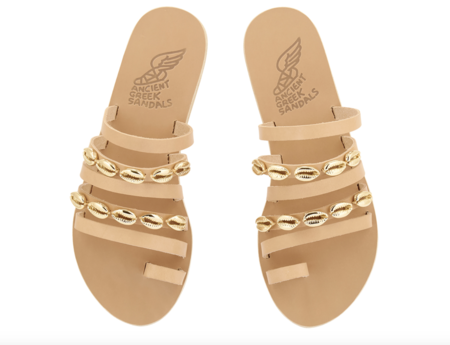 Ancient Greek Niki Shell Sandal - Natural
