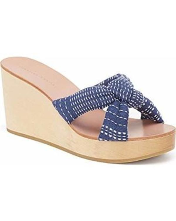 Loeffler Randall Taylor Stitched Wedge - navy/white