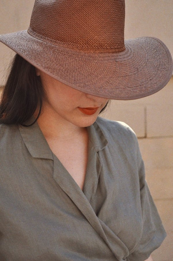 Brookes Boswell Savoy Straw Hat - Brown