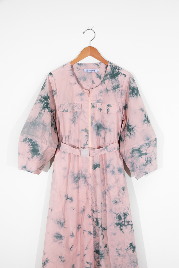Rachel Antonoff Megan Midi Dress - Pink/Green