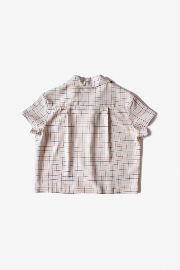 North Of West Rizo Blouse - Fog Color Grid Print