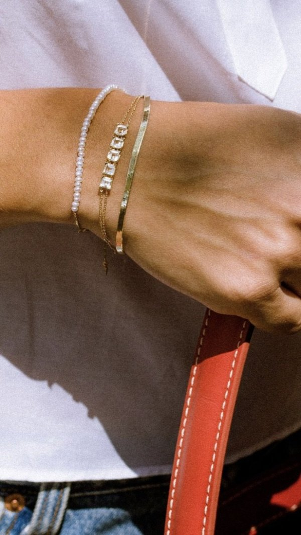 Loren Stewart Herringbone Bracelet - 10k gold
