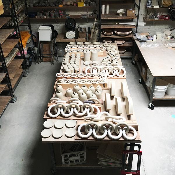 MQuan Ceramic African Bead Garland